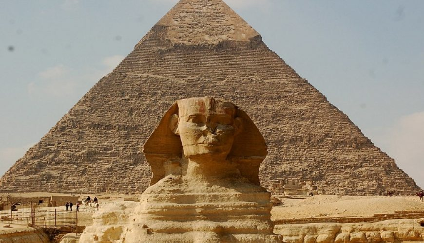 Chefren Pyramid with The Great Sphinx